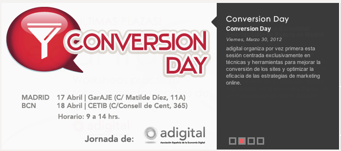 Participación de InboundCycle en las jornadas 'Conversion Day' de Adigital