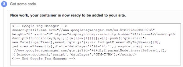 google tag manager codigo
