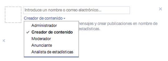 funciones miembros pagina facebook