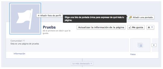 configurar portada pagina facebook