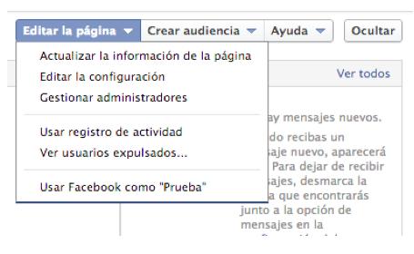 configurar administradores pagina de facebook