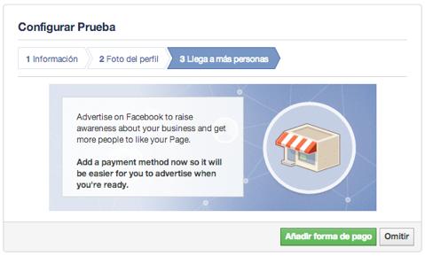 configuraicon metodo pago pagina facebook