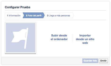 configuracion foto perfil pagina facebook
