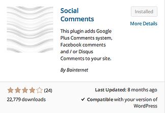 Social Comments Plugin