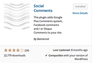 Social Comments Plugin