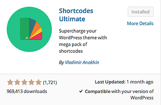 Shortcodes Ultimate plugin