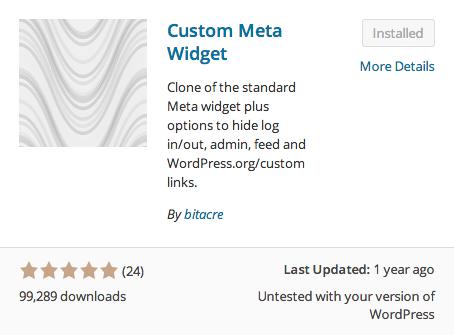 Custom Meta Widget