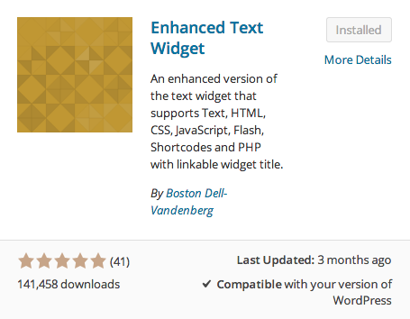 Enhanced Text Widget