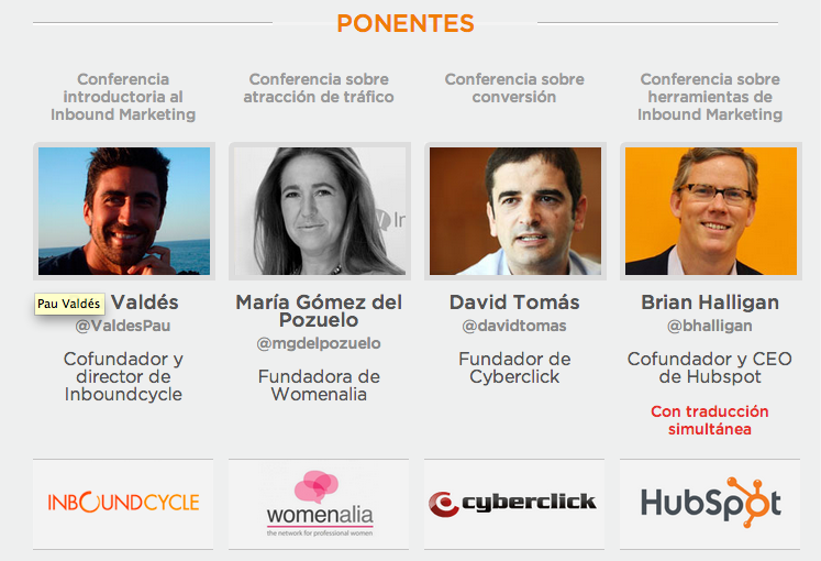 1er Evento de Inbound Marketing en España con Brian Halligan, fundador de HubSpot
