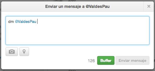Direct Message en Twitter