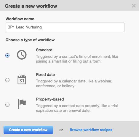 Creación de un Workflow nuevo para el Buyer Persona