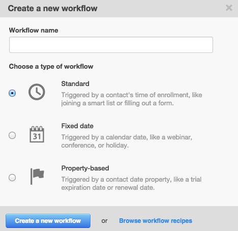 Creación de un nuevo Workflow