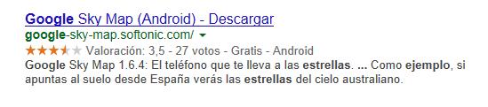 Ejemplo estrellitas Google