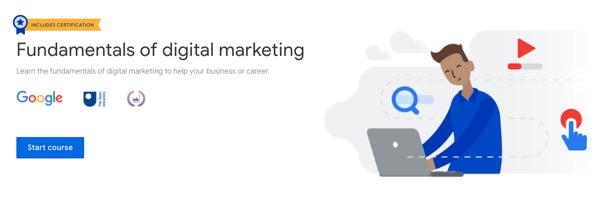 """1. Certificación """"Fundaments of digital marketing"""" de Google Digital Garage"""