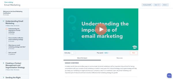 8. Certificación Email Marketing de HubSpot Academy