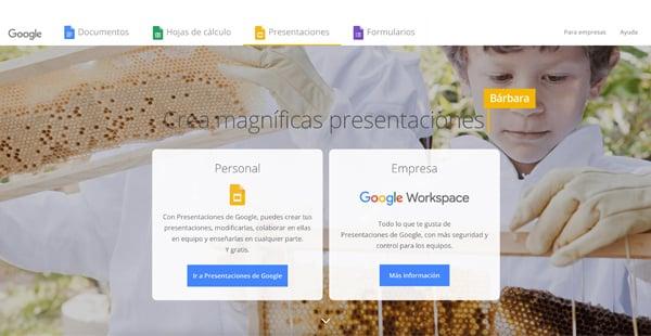 Google slides CTAs