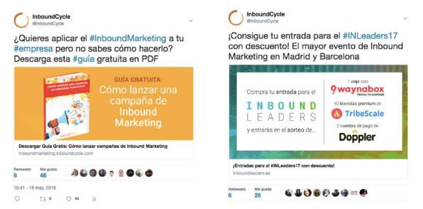 ejemplos campañas twitter ads inboundcycle