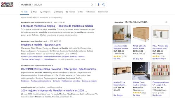 acciones comerciales google ads