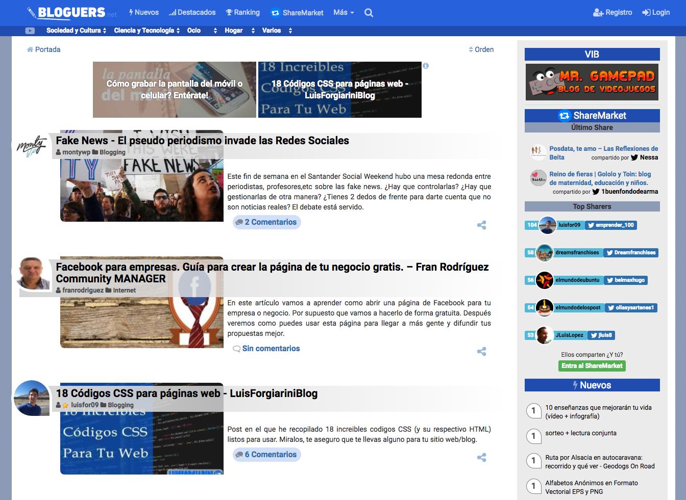 bloguers agregador contenido