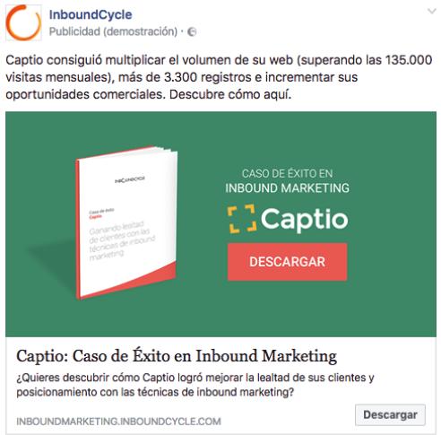 campaña conseguir engagement facebook ads