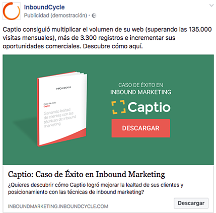 campaña conseguir engagement facebook ads