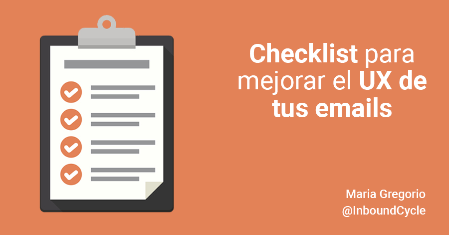 checklist ux emails