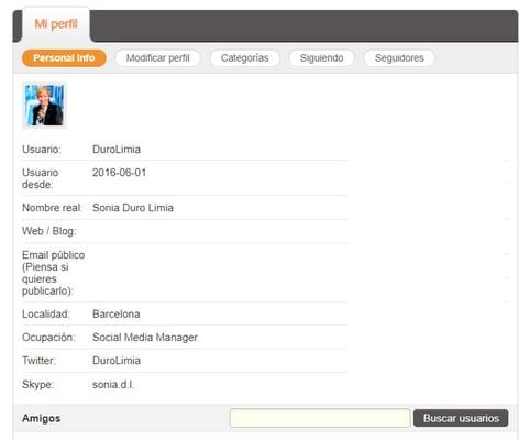 perfil agregadores de contenido