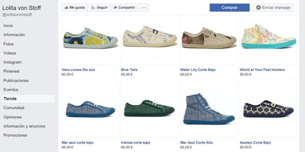 ejemplo tienda en facebook lolita von stoff