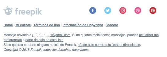 ejemplo pie email freepik