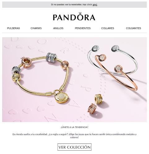 uso imagenes emails Pandora