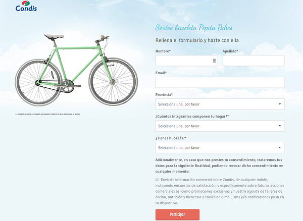 marketing offline Sorteo bici