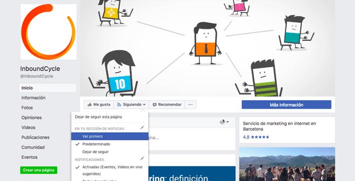 opcion ver primero facebook inboundcycle