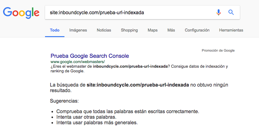 url no indexada inboundcycle