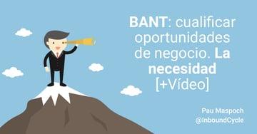 BANT: cualificar oportunidades de negocio. La necesidad [+Vídeo]
