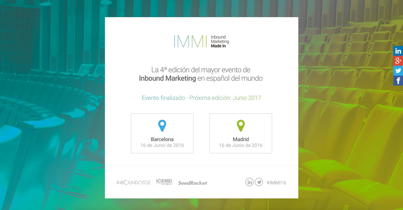 evento corporativo pagina web