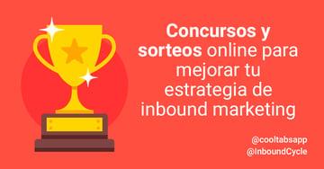 Concursos y sorteos online para mejorar tu estrategia de inbound marketing