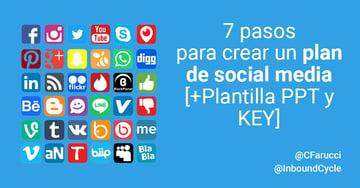 7 pasos para crear un plan de social media [+Plantilla PPT y KEY]