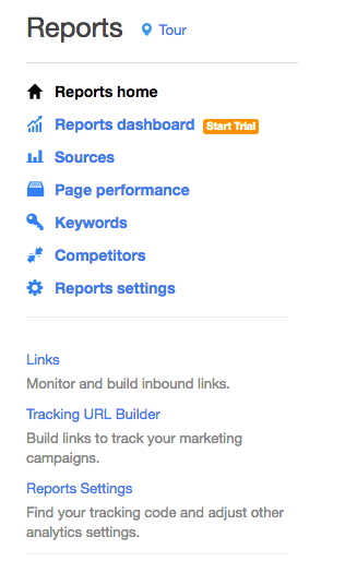 reports hubspot tracking builder