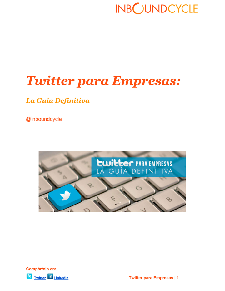 P1 - Ebook Twitter para empresas