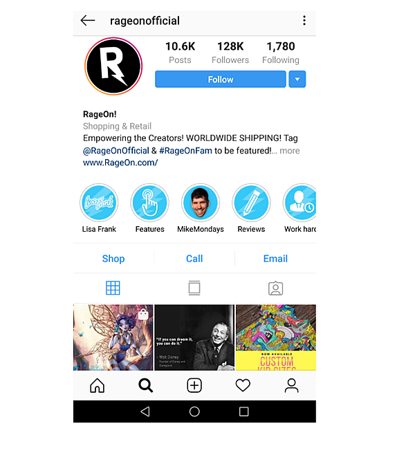 Estrategia de Marketing visual-RageOn Instagram