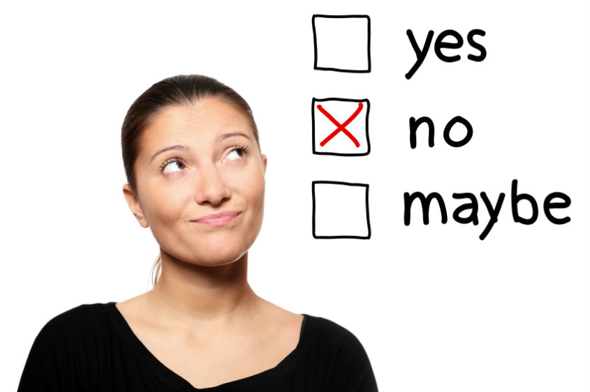 proceso comercial decir no