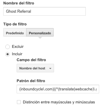 Ghost Referral Filter
