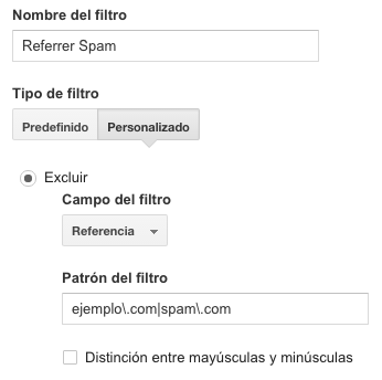 Referrer Spam Filter