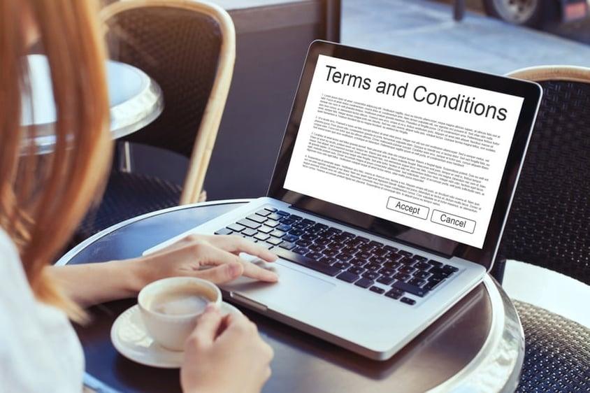 condiciones legales pagina web