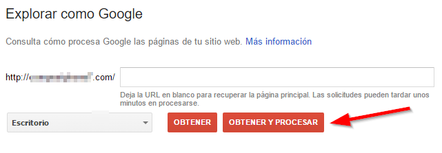 indexacion google search console