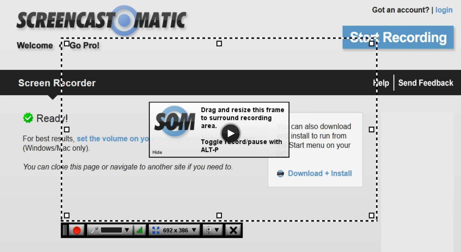 screencastomatic herramienta para videotutoriales