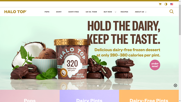 Estrategia de Marketing visual-Halo Top Web