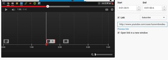 anotaciones suscripcion youtube tiempo
