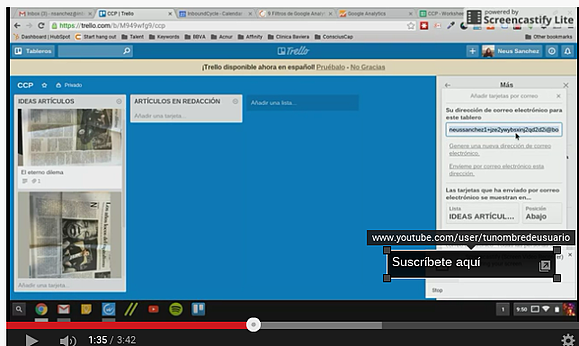 anotacione suscripcion youtube sitio