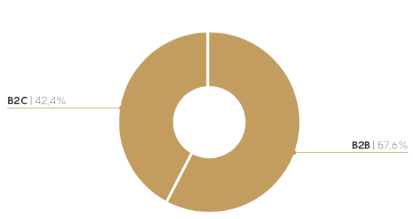 Distribucion de proyectos b2b y b2c
